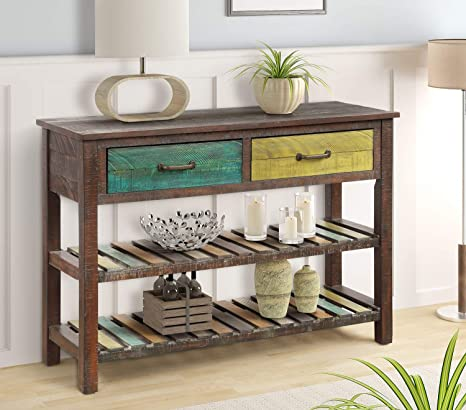 Incredible Amazon Com Rhomtree Sofa Table Entertainment Console Table Gmtry Best Dining Table And Chair Ideas Images Gmtryco