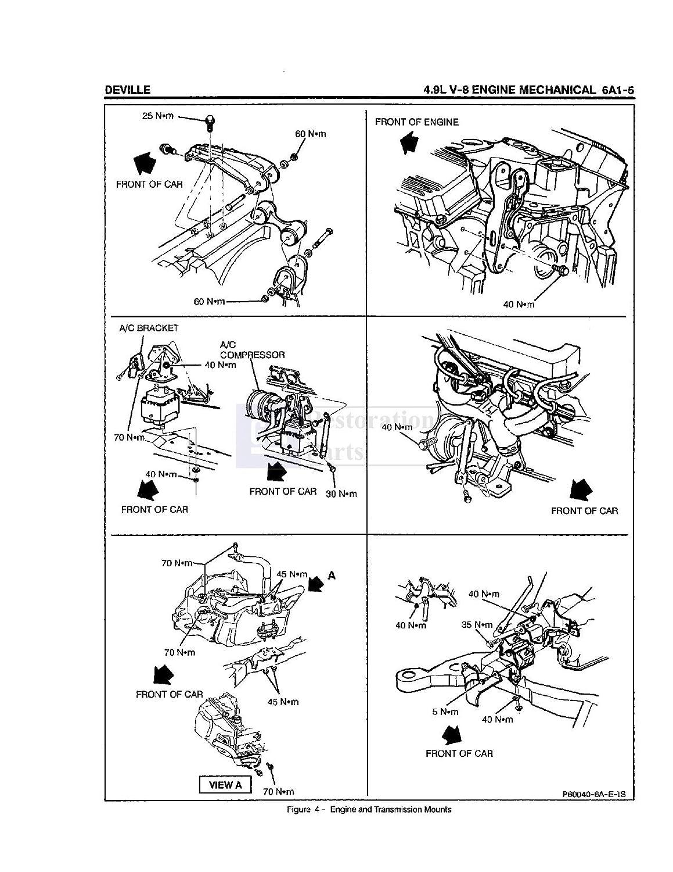 Bishko Automotive Literature 1995 Cadillac Deville 4 9l Engine Diagram Eldorado Seville Shop Service Repair Manual Book