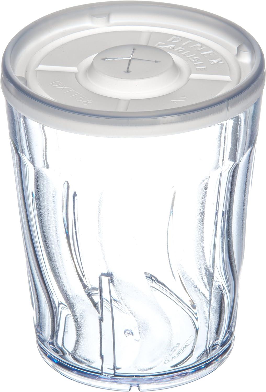 Pack of 72 Dinex DX4GC907 Swirl Shatterproof Tumbler 9 oz 3.25 Length 3.38 Height Clear 3.25 Width SAN