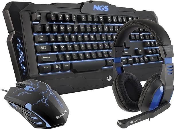 Kit Gaming : Teclado + Auriculares + Ratón NGS GBX-1000