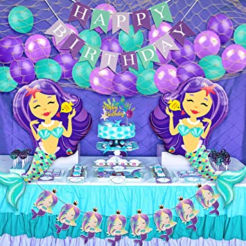 Amazon Mermaid Birthday Decorations For Girls With