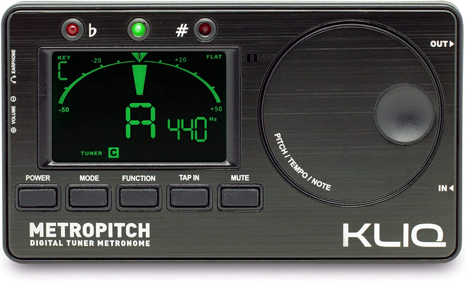 KLIQ MetroPitch - Metronome Tuner for All Instruments - with Piano