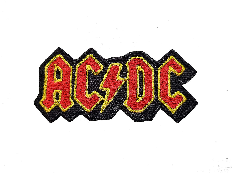 CoolPart - Parche bordado, diseño de AC/DC, aplicación con plancha ...