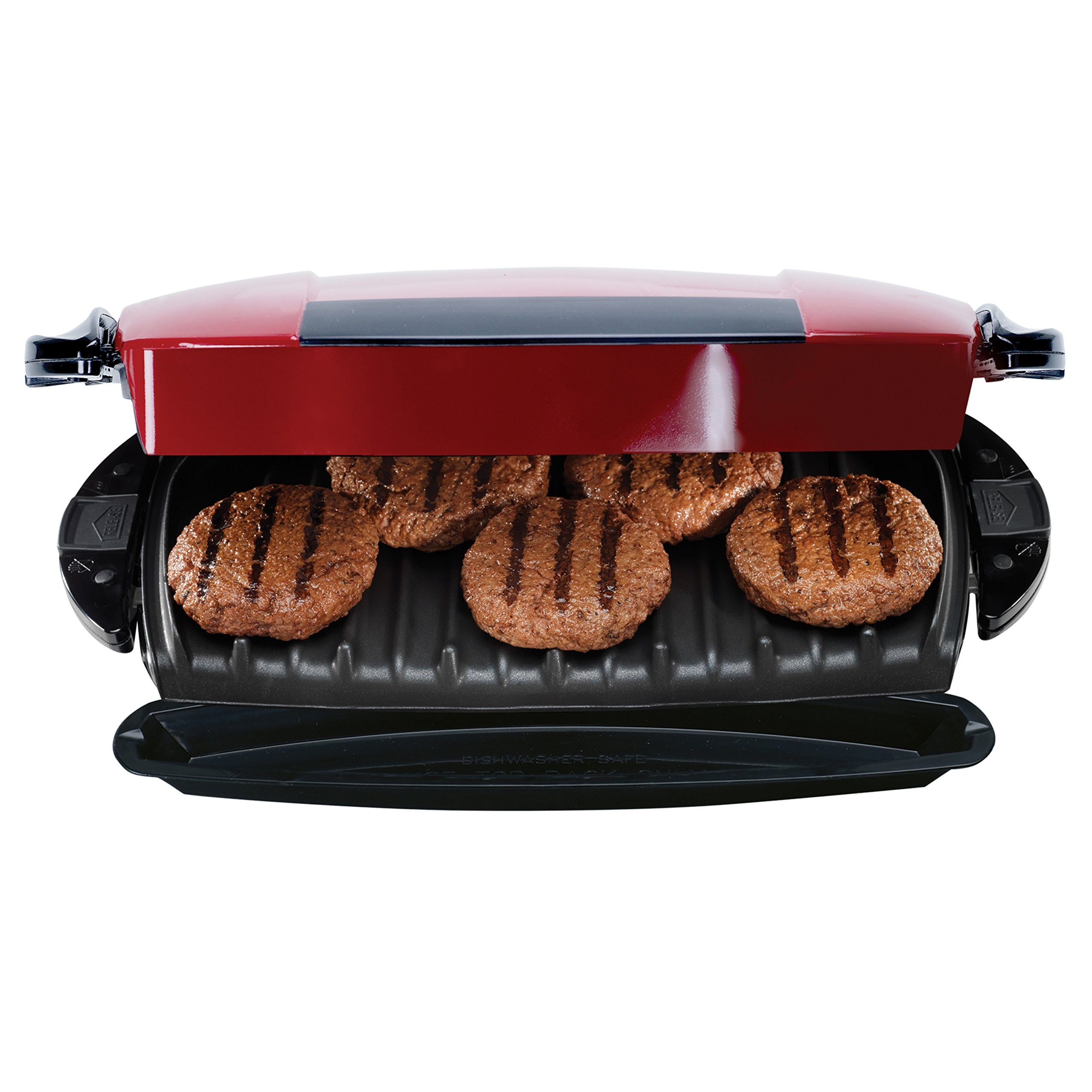 George Foreman 5-Serving Removable Plate Electric Indoor Grill and Panini Press, Red, GRP0004R by George Foreman (Image #8)