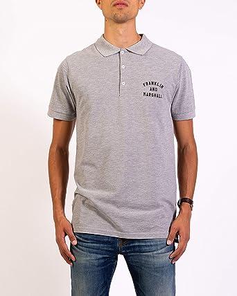 Franklin & Marshall Camisa de Polo de Logotipo Gris Claro Small ...