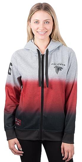 the latest 6111c e322a ICER Brands NFL Women's Full Zip Hoodie Sweatshirt Hombre Jacket, Team Color