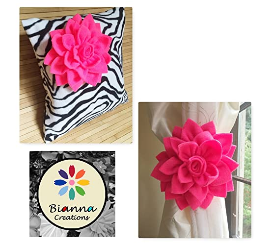 Amazon set of one neon pink dahlia on zebra 16x16in pillow set of one neon pink dahlia on zebra 16x16in pillow cover and a pair of junglespirit Gallery
