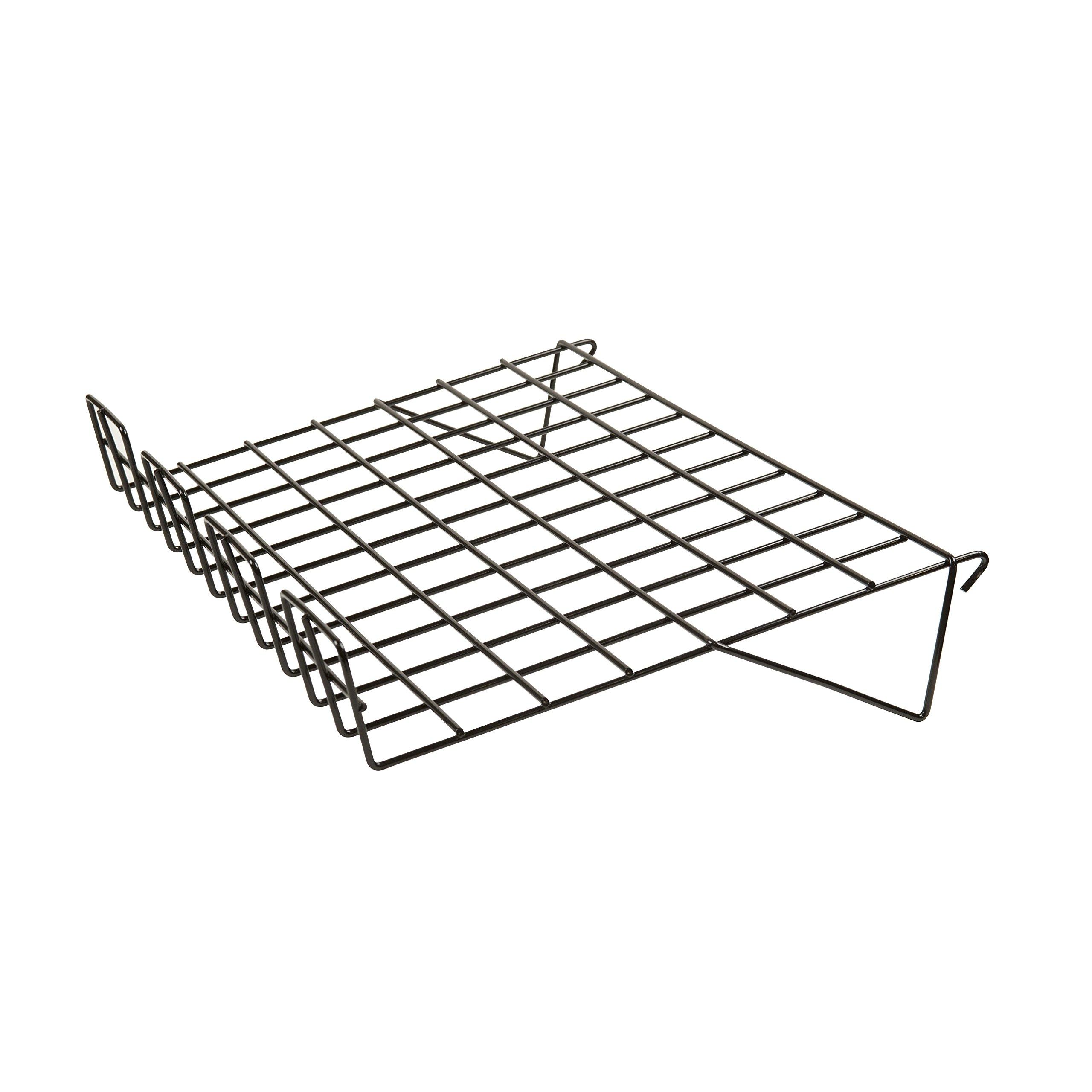 Econoco BLK/SL22 Sloping Shelf with 3'' Lip, 14'' Depth x 22-1/2'' Length, Black (Pack of 6)