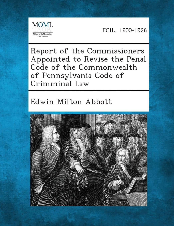 criminal code of commonwealth of pennsylvania