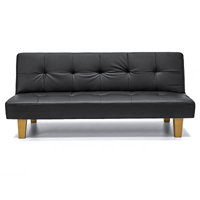 Best Choice Products Faux Leather Futon
