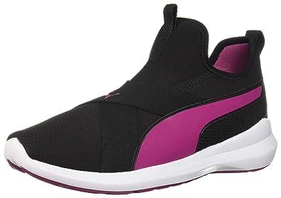 fd597c60cc35 PUMA Women s Rebel X Sneaker Black-Magenta Haze