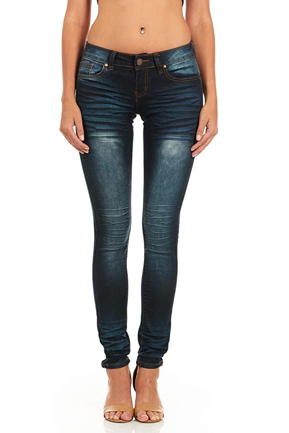 d9232621984 Cover Girl Skinny Jeans for Women Whisker Wash Ankle Length at Amazon  Women s Jeans store