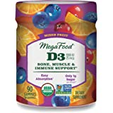 MegaFood, Certified Organic D3 Wellness Gummies, Soft Chew 1000 IU Vitamin D Supplement for Bone, Muscle and Immune Support,