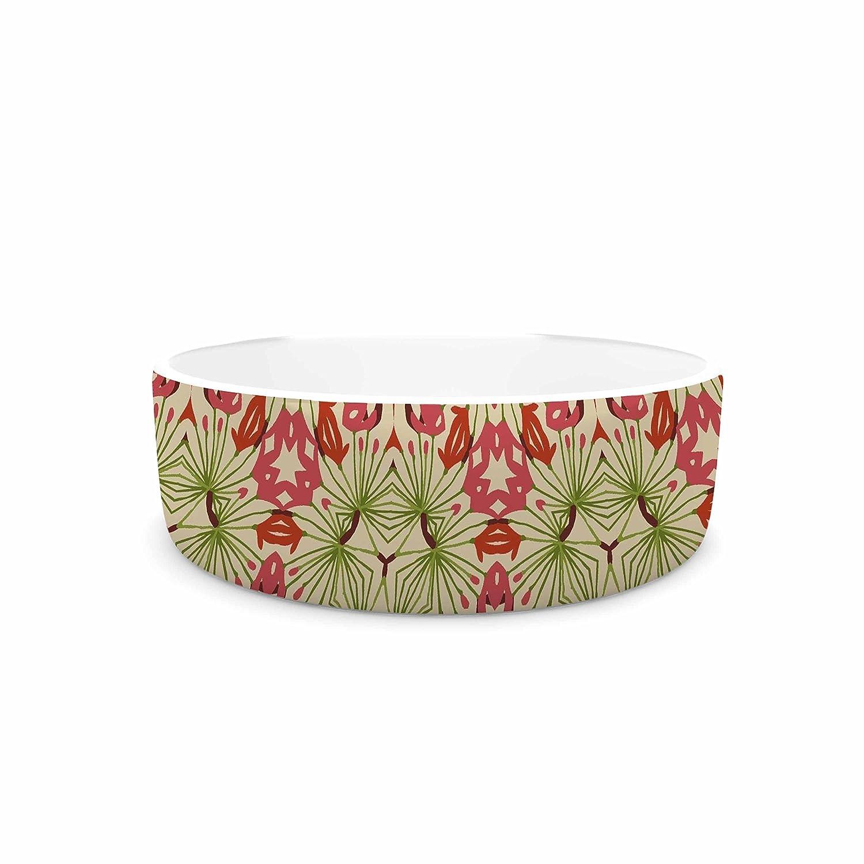 KESS InHouse Laura Nicholson Thalia, Pink  Floral Abstract Pet Bowl, 7