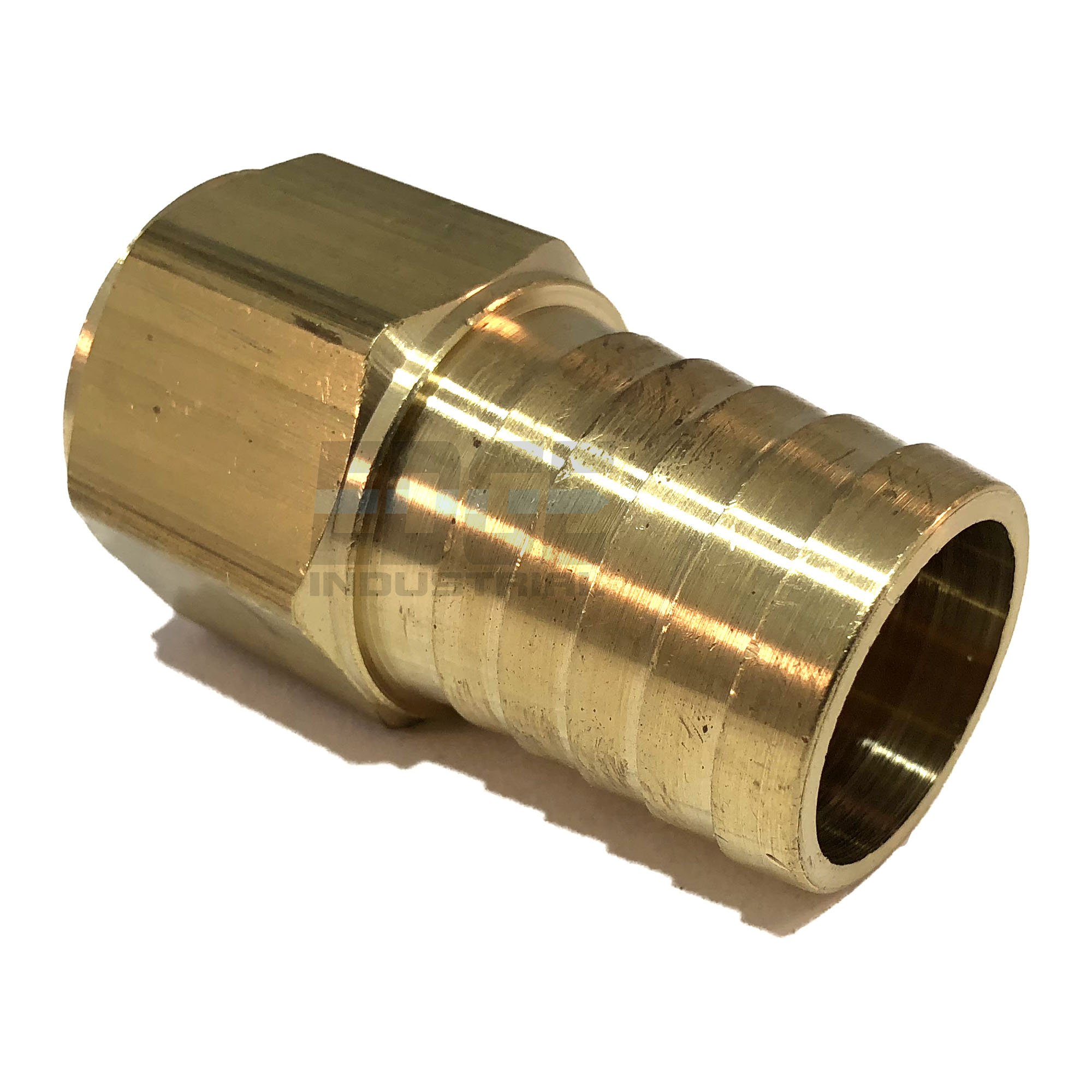 Edge Industrial 1'' Hose ID to 3/4'' Female NPT FNPT Straight Brass Fitting Fuel/AIR / Water/Oil / Gas/WOG