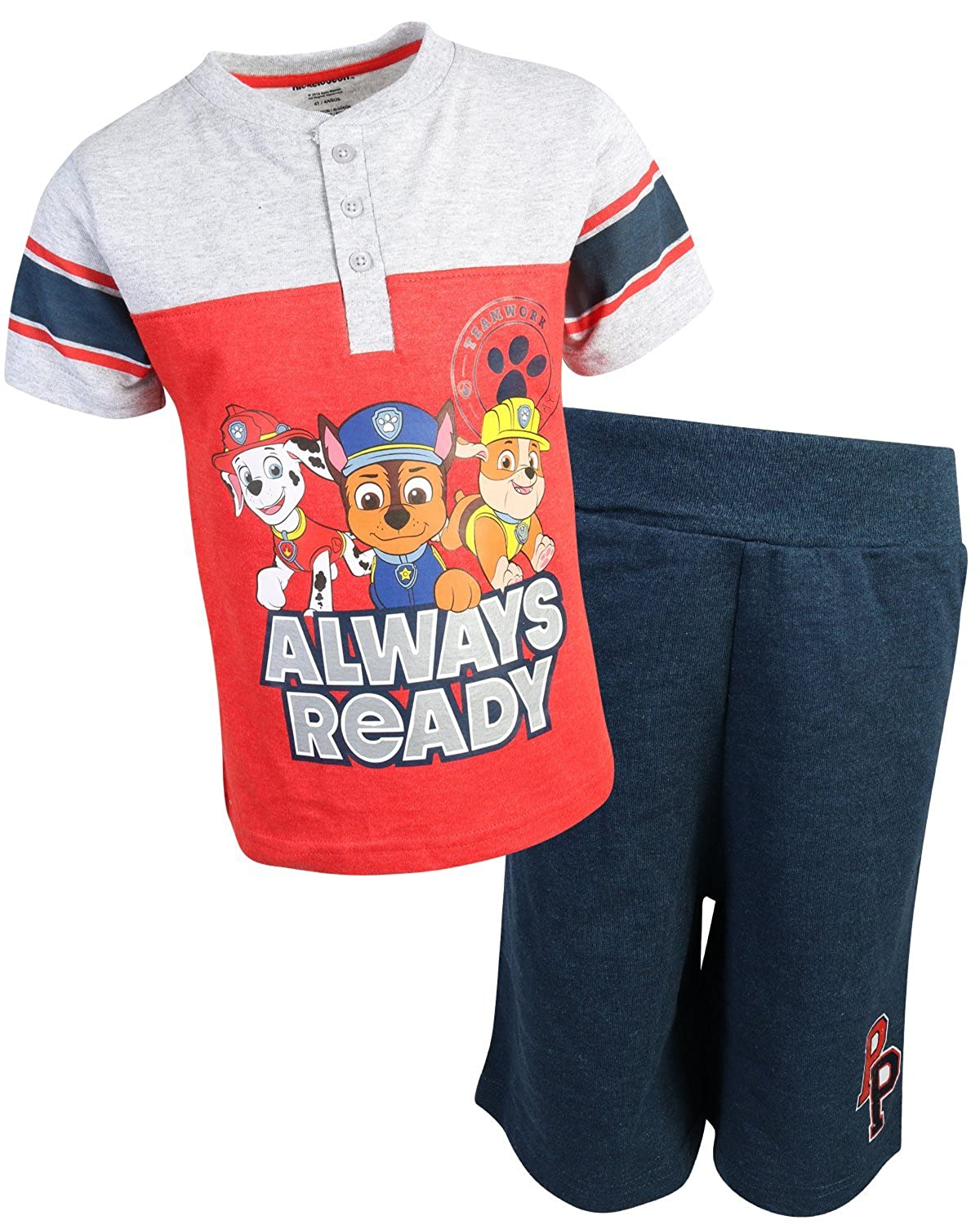 Nickelodeon Paw Patrol Boys 2-Piece French Terry Short Set