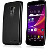 BoxWave Blackout LG G Flex Case - Durable, Slim-Fit Black TPU Case with Stylish Dual Glossy and Matte Finish - LG G Flex Cases and Covers