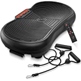 Axis-Plate Vibration Plate Exercise Machine with Resistance Bands -Whole Body Fitness Platform