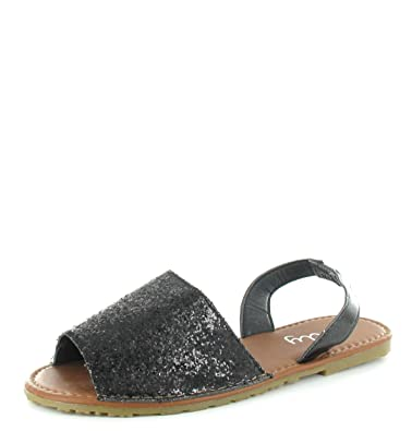 303c36045ef7 Olly Womens Ladies Menorcan Sling Back PEEP Toe FLIP Flop Summer Sandals  Shoes Size (UK4