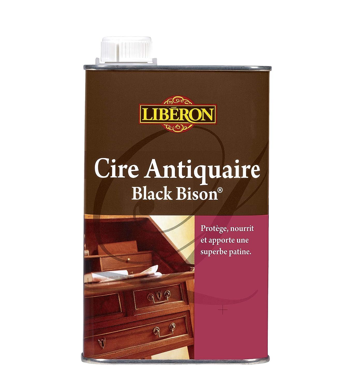 LIBERON Cire antiquaire 'Black Bison' Liquide - Apportant résistance aux chocs et à l'eau, Merisier clair, 0,5L V33 003957