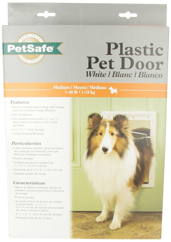 Amazon Petsafe Plastic Pet Door Medium White Hpa11 10967