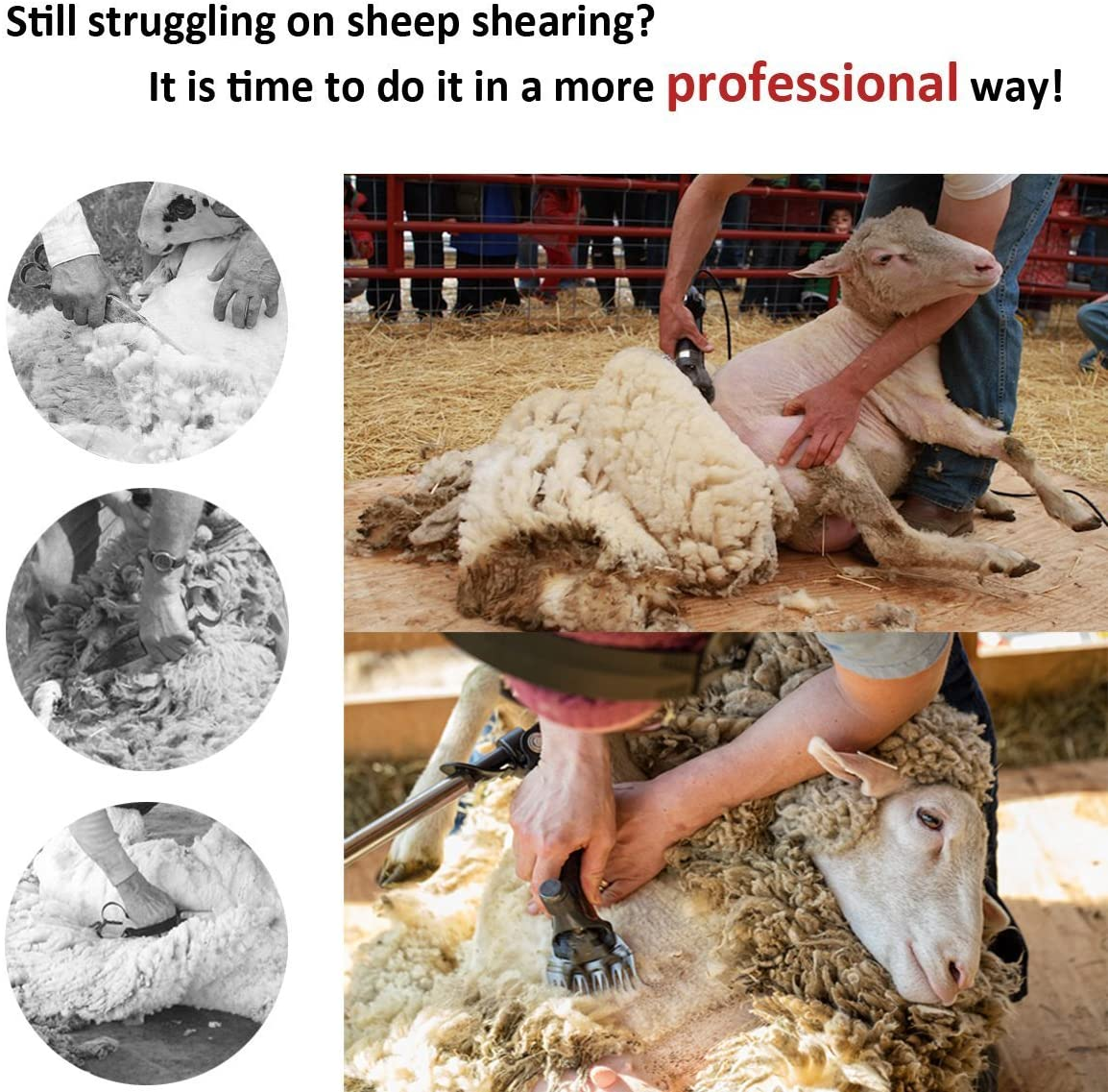 Livestock Shears /& Livestock Grooming Supplies UK Plug 690W 6 Speed For Farm Goats Orange Vinteky Electric Animal Grooming Clippers /& Sheep Shears Heavy Duty Large Animal Clippers