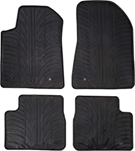 Gledring Rubber Mat Set Compatible with Alfa Romeo Giulietta 2014- (T-Profile 4-Piece + Mounting Clips)