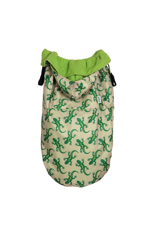 Bundlebean Wetterschutz Cover Für Babytragen Tragetücher Fleece Futter Grüne Geckos Baby