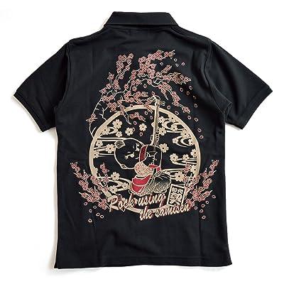 (チギリ) CHIGIRI 初代契三味線半袖ポロシャツ レディース 和柄 和風 ちぎり 桜 さくら