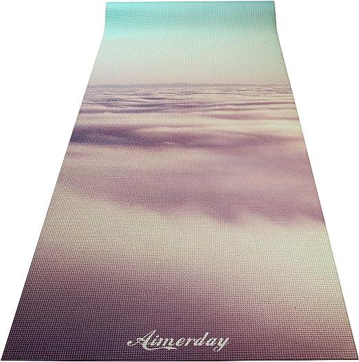 AIMERDAY Premium Print Yoga Mat Extra Thick 1/4