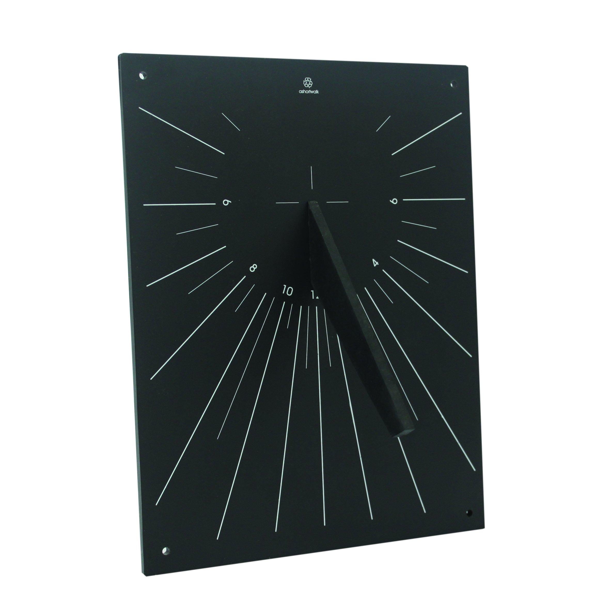 Bosmere W435 Eco Wall Mounted Sundial Made from Recycled Materials, Black by Bosmere