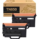 CMYBabee Compatible Toner Cartridge Replacement for Brother TN850 TN-850 TN 850 (Black, 2 Pack)