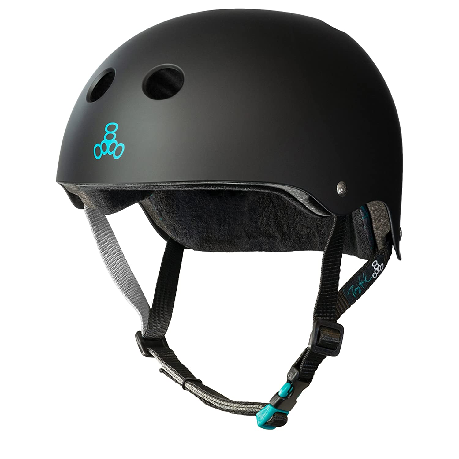 Triple Eight Tony Hawk Signature Model THE Certified Sweatsaver Helmet for Skateboarding, BMX, and Roller Skating