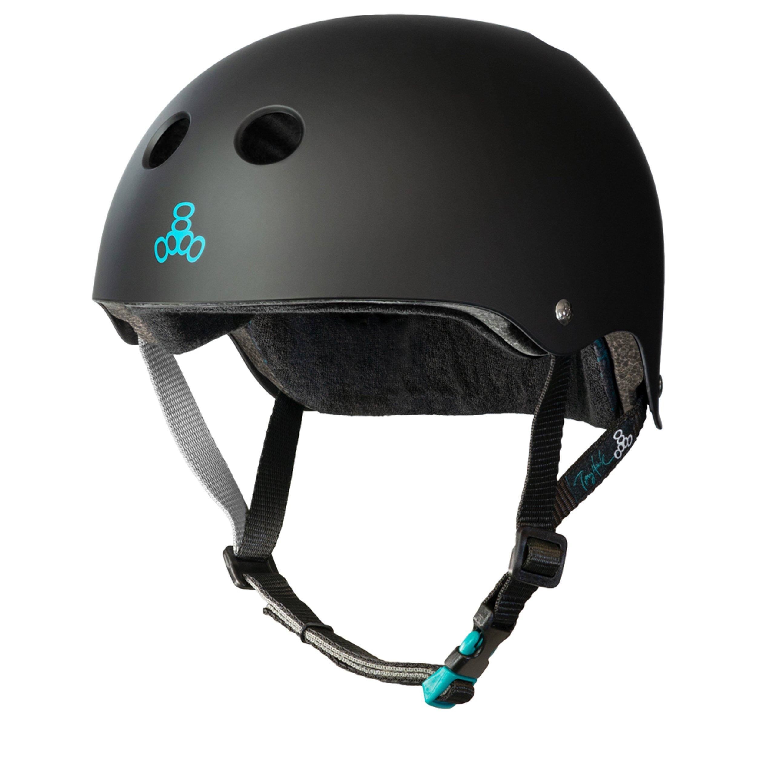 Triple Eight Tony Hawk Signature Model The Certified Sweatsaver Helmet for Skateboarding, BMX, and Roller Skating, Small/Medium