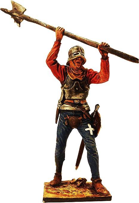 1//32 Figure Painted Metal Toy Soldiers Swiss Halberdier Tin Miniatures 54mm