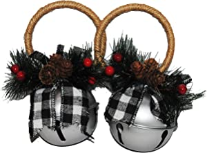 Changing Seasons Christmas Country Bells 2 Pack (Bright Silver)