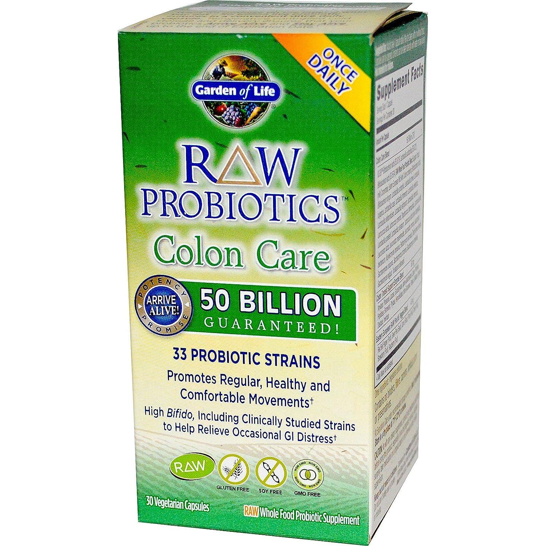 Garden Of Life, Raw Probiotics Colon Care, 30 Veggie Capsules