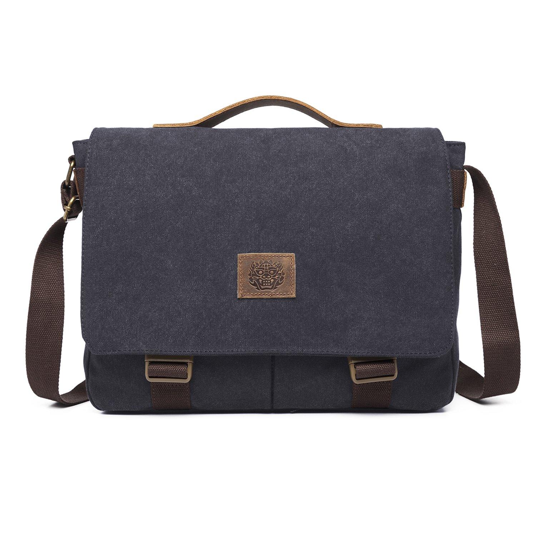 Inmount Messenger Bag Shoulder Bag Briefcase Crossbody Bag Canvas Satchel for College Work Dating Camping