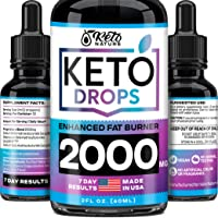Keto Diet Drops with BHB Exogenous Ketones - Dietary Supplement Made in USA - Fat...
