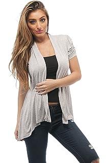 b06661cc2264f Hollywood Star Fashion Rayon Short Sleeves Flyaway Cardigan Shawl Collar  Shrug Cardi Plus Size