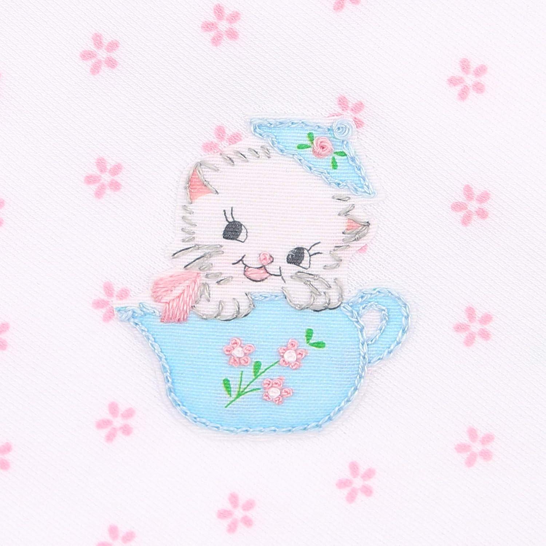 Magnolia Baby Baby Girl Vintage Tea Cup Kitty Emb Sock Pink