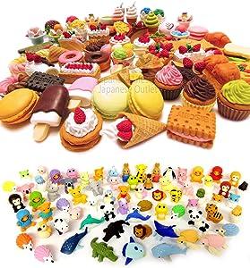 Iwako Erasers Animal & Dessert Assorted Collection - Pack of 30 (15 Animals + 15 Desserts)