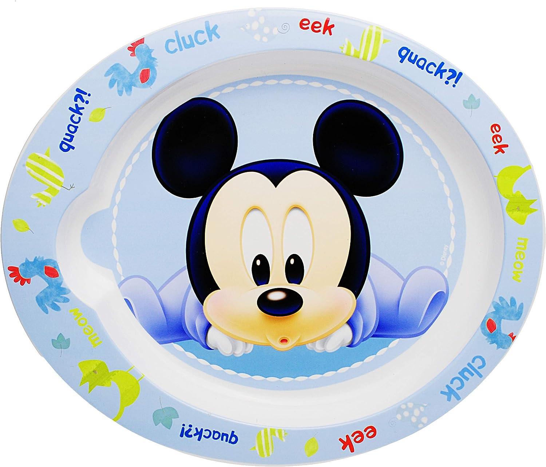 alles-meine.de GmbH 5 TLG Mickey Mouse M/üslischale // Suppensch/üssel Gabel Disney Teller BPA frei Mikrowellengeeignet.. Geschirrset L/öffel inkl Name Trinktasse