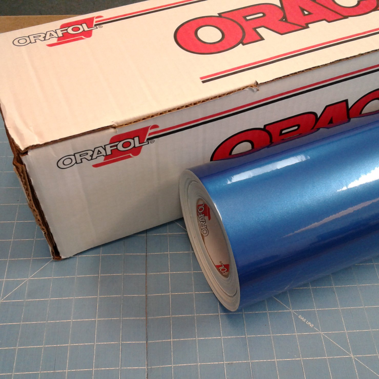 Blue Azure 24'' x 30 Ft Roll of Oracal 951 Premium Metallic Vinyl for Craft Cutters and Vinyl Sign Cutters