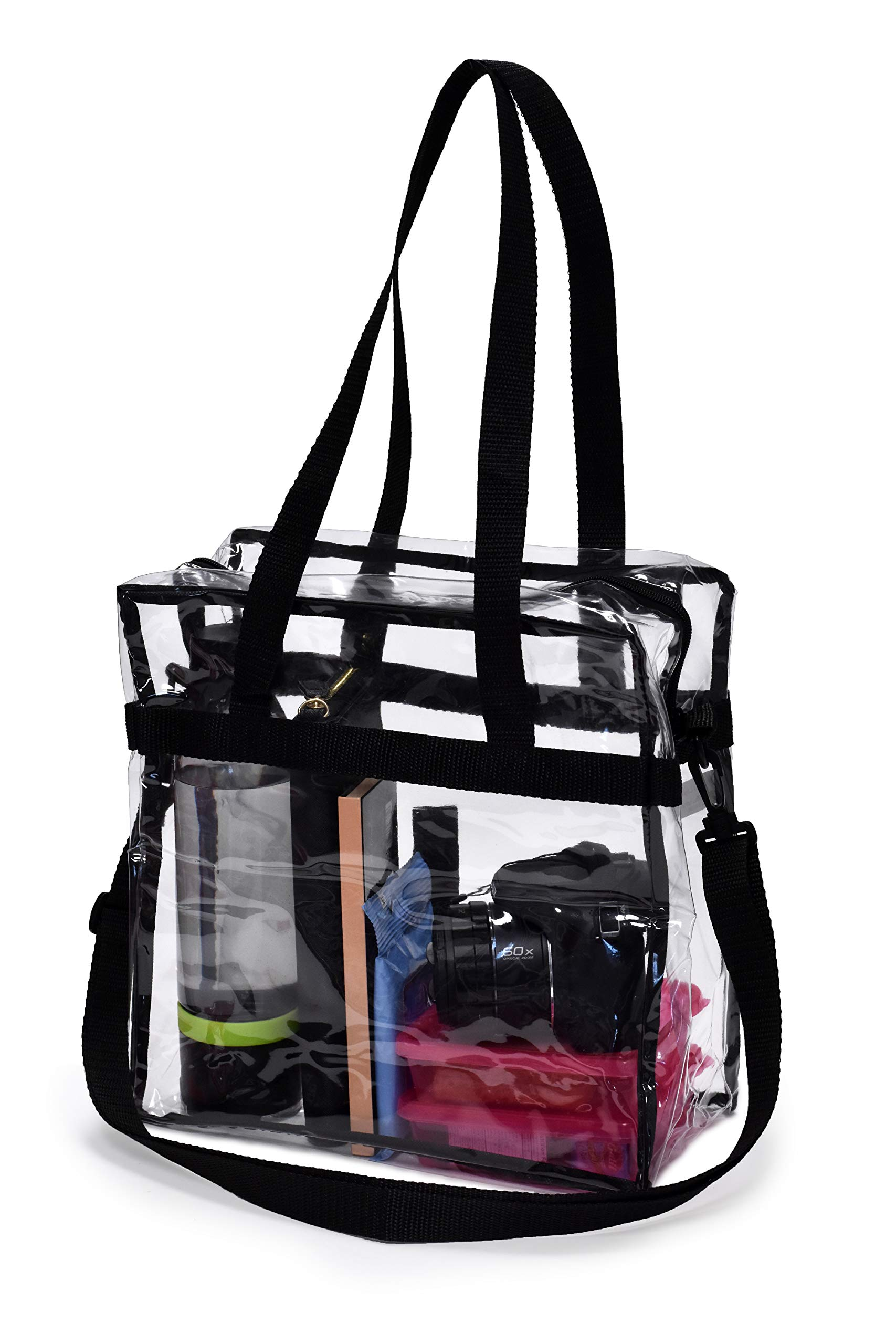 Bagail Nfl And Pga Stadium Approved Clear Tote Bag With Zipper Closure Crossbody