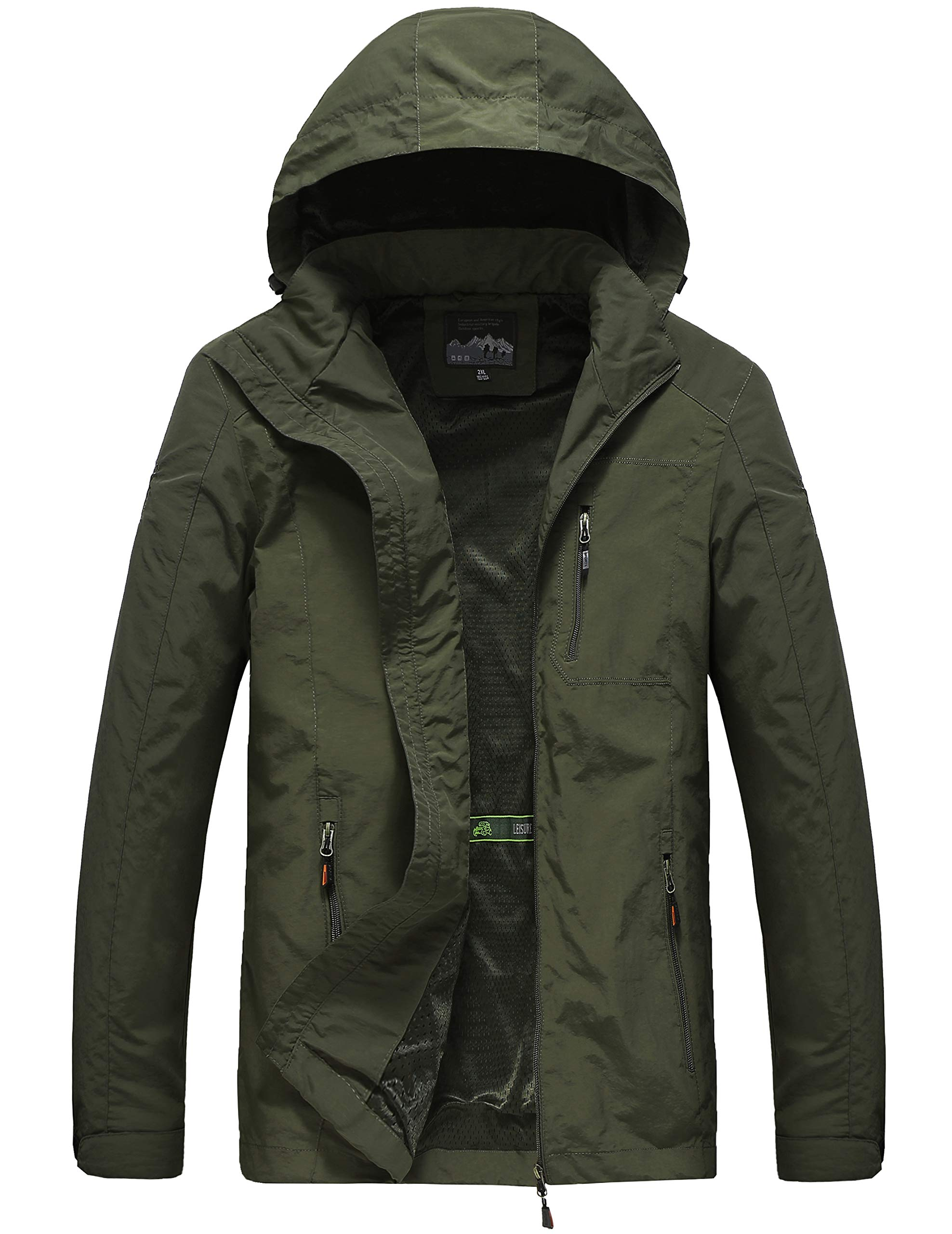 Pinkpum Army Green Lightweight Jacket for Men L by Pinkpum