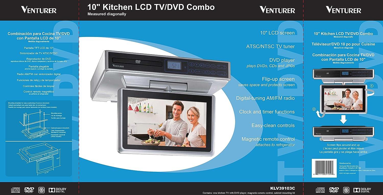 Amazon.com: Venturer KLV39103 10-Inch Under-Cabinet LCD TV/DVD ...