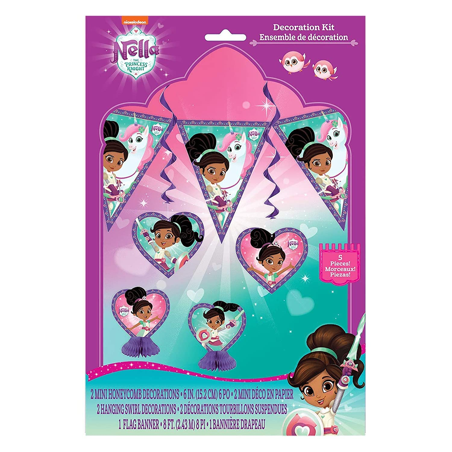 Pack of 8 Nella The Princess Knight Plastic Party Bags