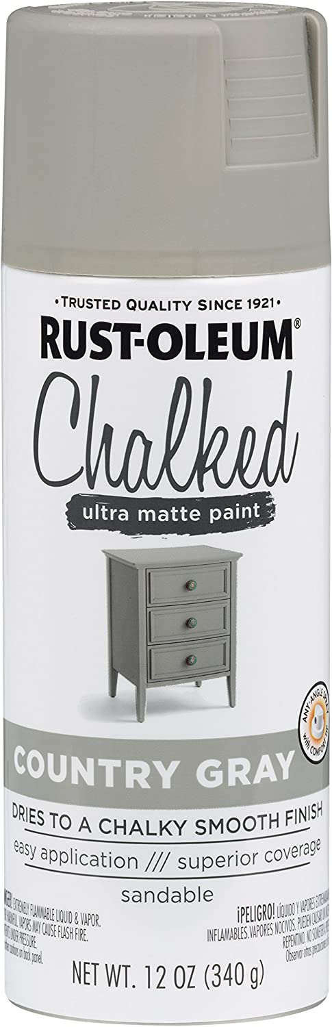Rust-Oleum 302593 Series Chalked Ultra Matte Spray Paint, Country Gray