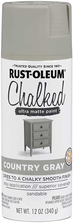 Rust-Oleum Series Rustoleum 302593 12OZ Country Gray Chalked Paint Spray,